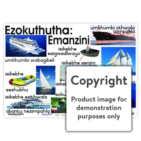 Ezokuthutha: Emanzini (Water Transport) Wall Charts And Posters