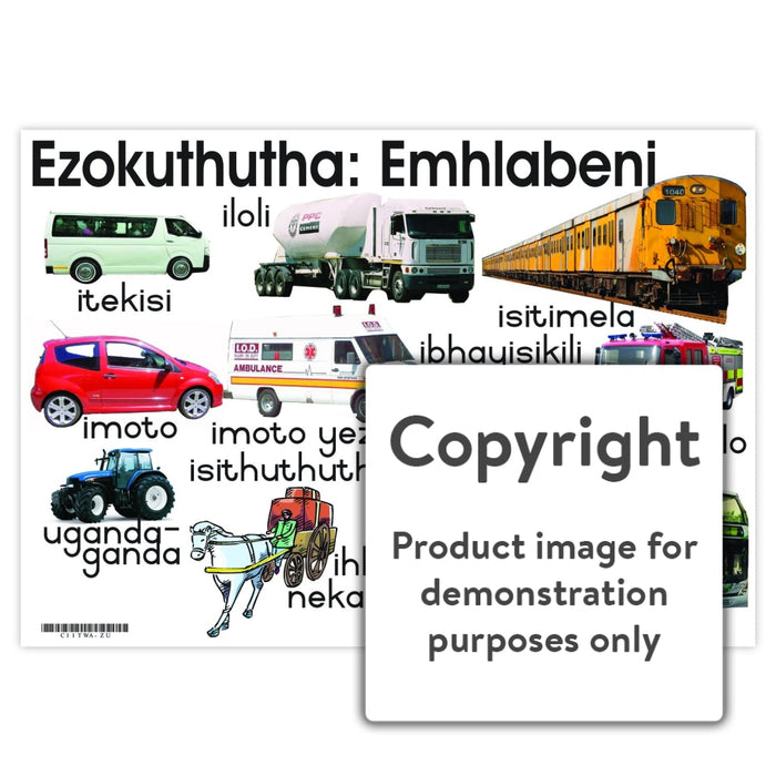 Ezokuthutha: Emhlabeni (Land Transport) Wall Charts And Posters