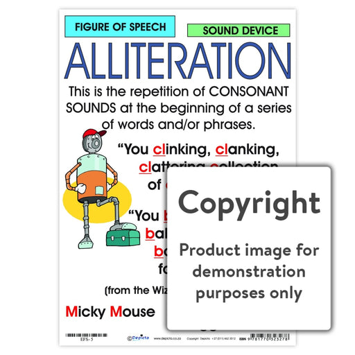 Figure Of Speech: Alliteration Wall Charts And Posters