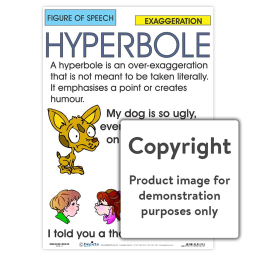 Figure Of Speech: Hyperbole Wall Charts And Posters