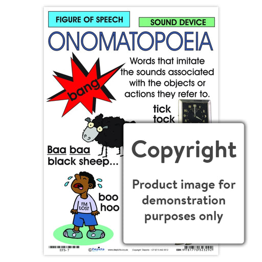 Figure Of Speech: Onomatopoeia Wall Charts And Posters