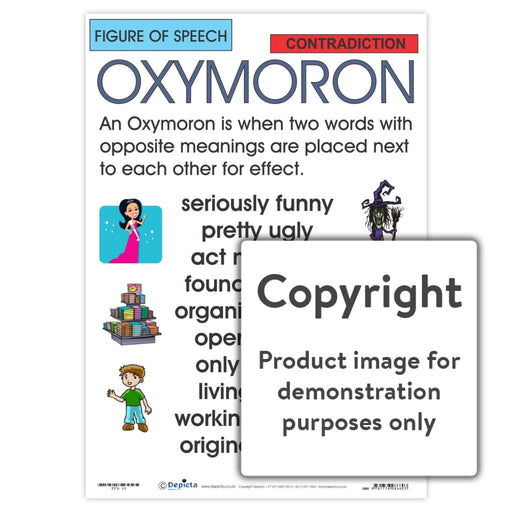 Figure Of Speech: Oxymoron Wall Charts And Posters