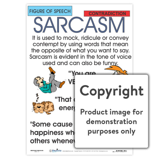 Figure Of Speech: Sarcasm Wall Charts And Posters