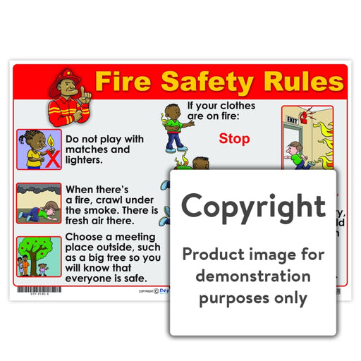Fire Safety Rules Wall Charts And Posters