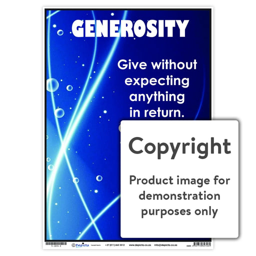 Generosity Wall Charts And Posters