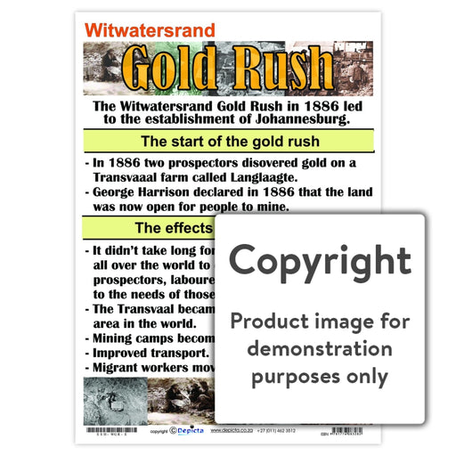 Gold Rush - Witwatersrand Wall Charts And Posters