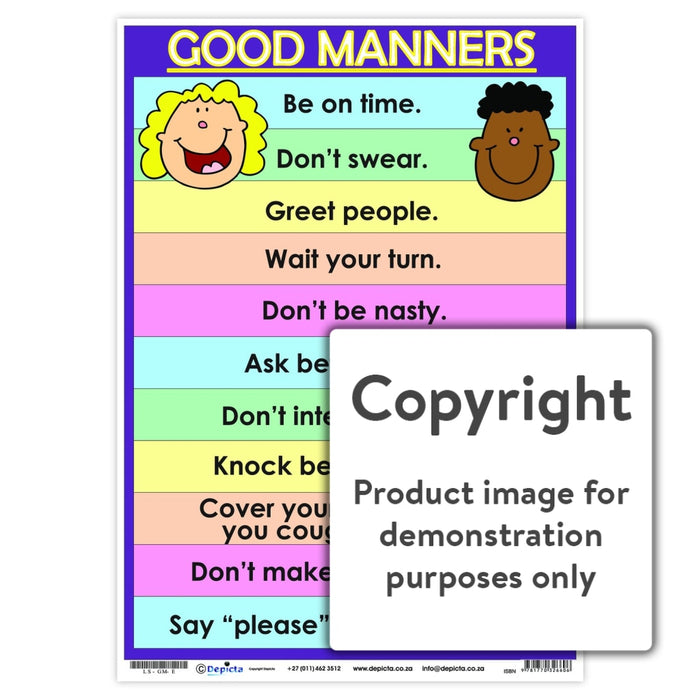 Good Manners Wall Charts And Posters