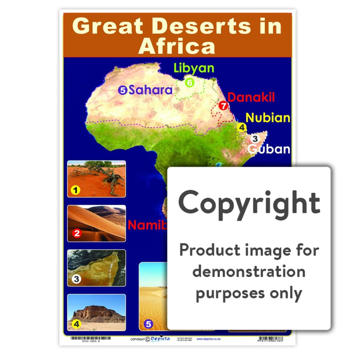 Great Deserts In Africa Wall Charts And Posters