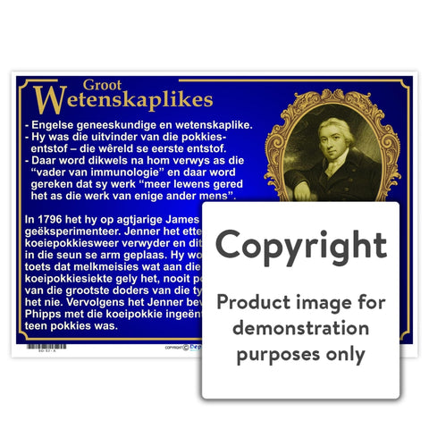 Groot Wetenskaplikes: Edward Jenner Wall Charts And Posters