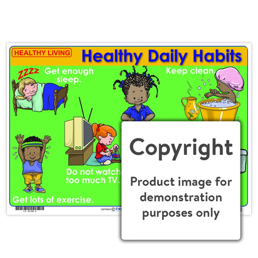 Healthy Living: Daily Habits Wall Charts And Posters