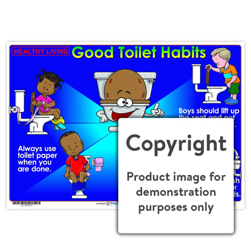 Healthy Living: Good Toilet Habits Wall Charts And Posters