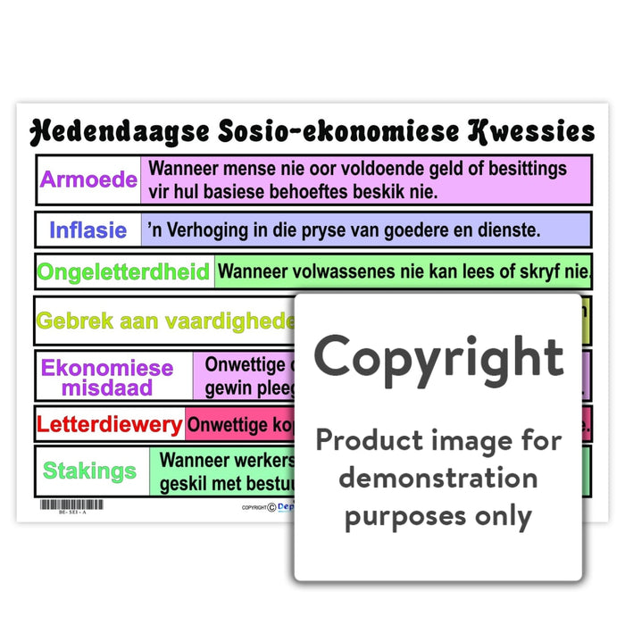 Hedendaagse Sosio-Ekonomiese Kwessies Wall Charts And Posters