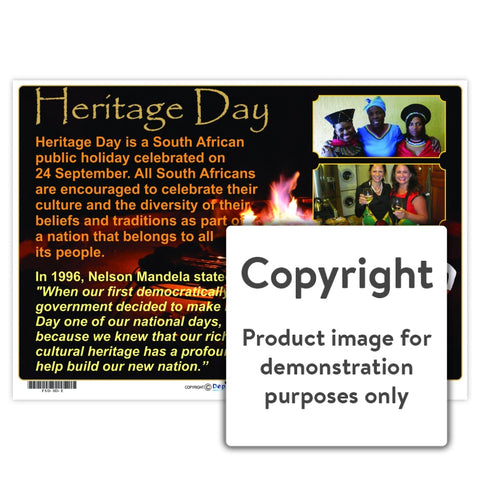 Heritage Day Wall Charts And Posters