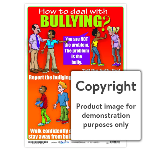 How To Deal With Bullying (High School) Wall Charts And Posters