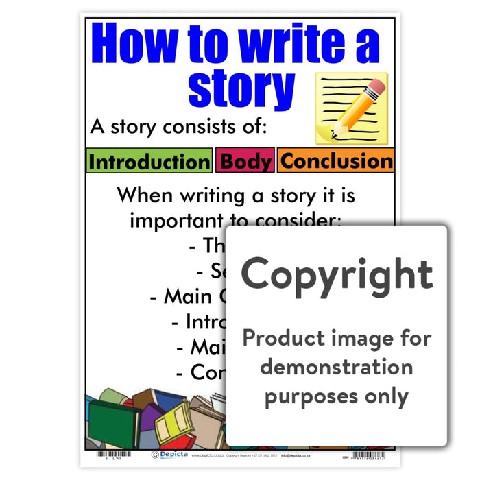 How To Write A Story Wall Charts And Posters