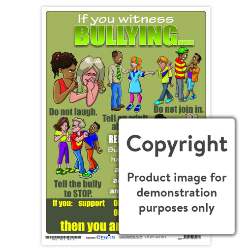 If You Witness Bullying... (High School) Wall Charts And Posters