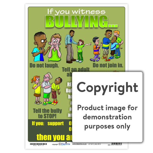 If You Witness Bullying... (Primary School) Wall Charts And Posters