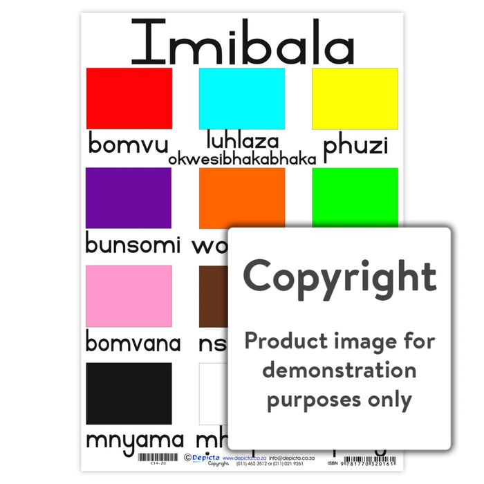 Imibala (Colours) Wall Charts And Posters