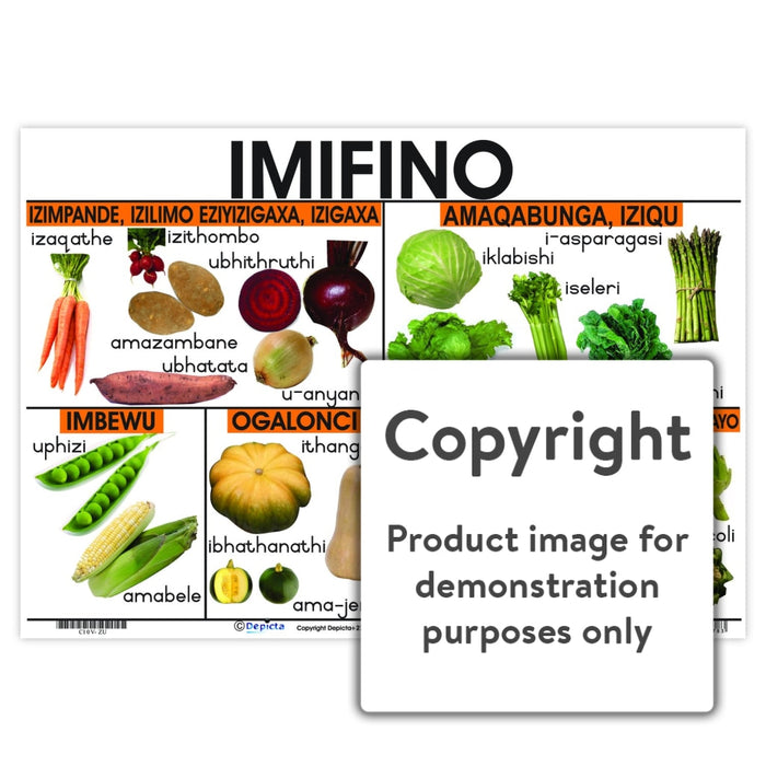 Imifino (Vegetables) Wall Charts And Posters