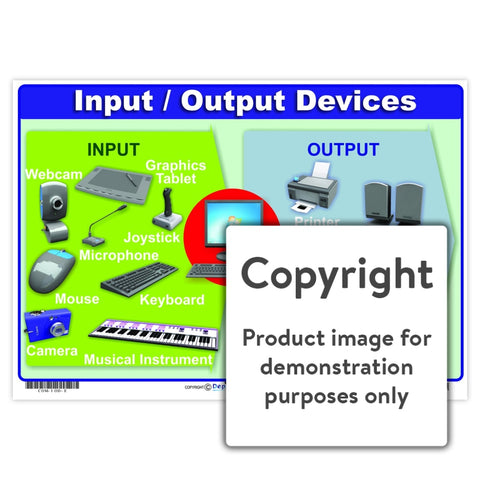 Input / Output Devices Wall Charts And Posters