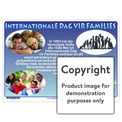 Internasionale Dag Vir Families Wall Charts And Posters