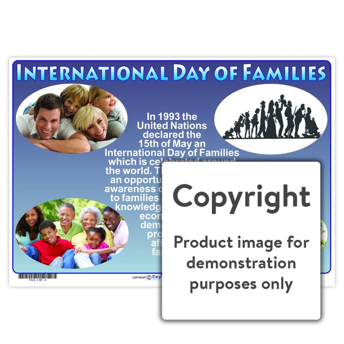 International Day Of The Family Wall Charts And Posters