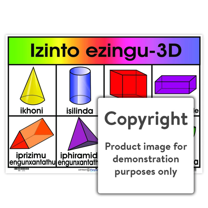 Izinto Ezingu-3D (3-D Objects) Wall Charts And Posters