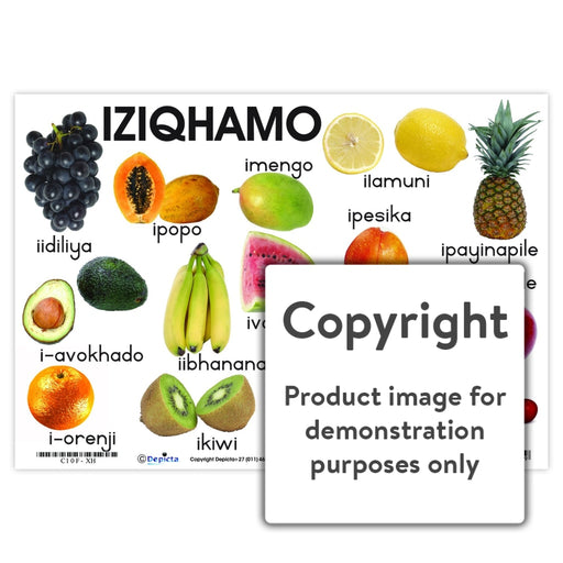 Iziqhamo ( Fruit ) Wall Charts And Posters