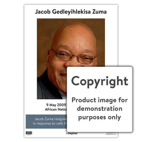 Jacob Gedleyihlekisa Zuma - English Wall Charts And Posters