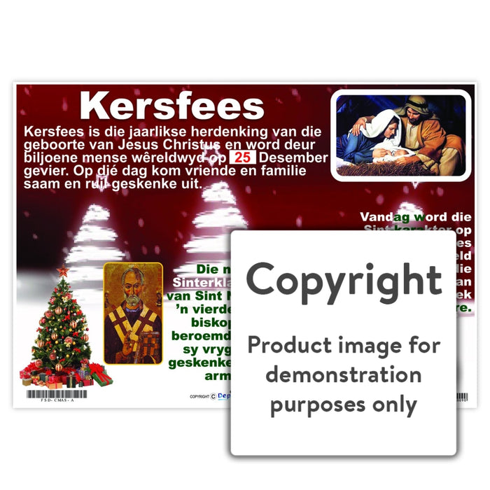 Kersfees Wall Charts And Posters