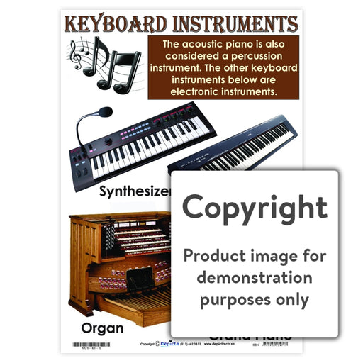 Keyboard Instruments Wall Charts And Posters