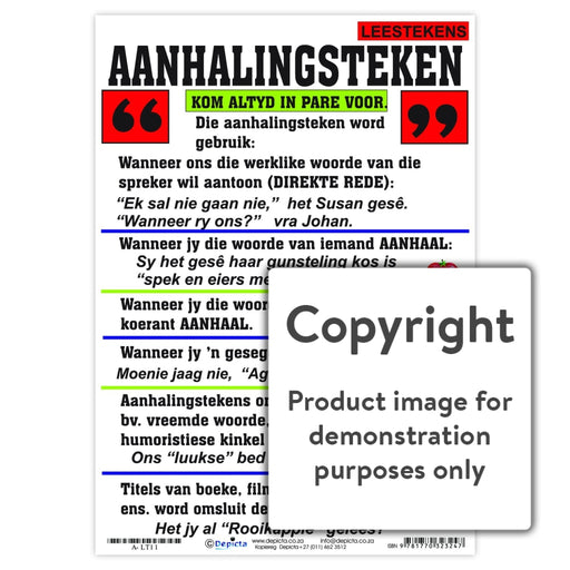Leestekens: Aanhalingsteken Wall Charts And Posters