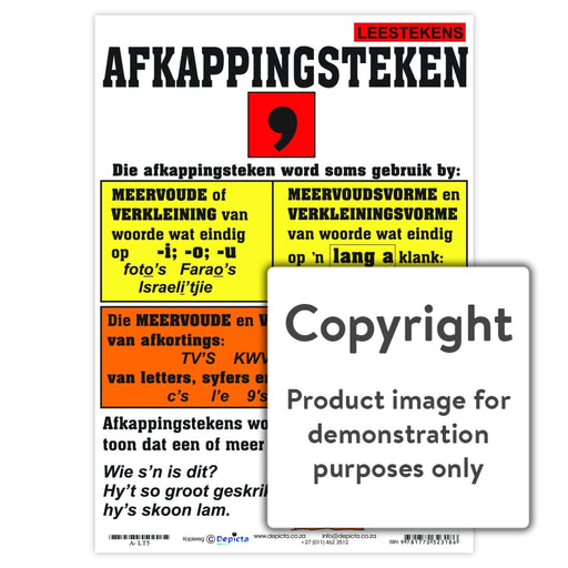 Leestekens: Afkappingsteken Wall Charts And Posters