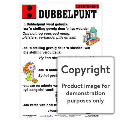 Leestekens: Dubbelpunt Wall Charts And Posters