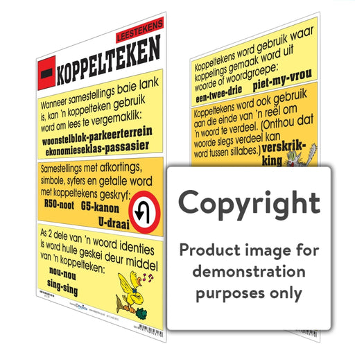 Leestekens: Koppelteken Wall Charts And Posters