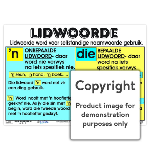 Lidwoorde Wall Charts And Posters