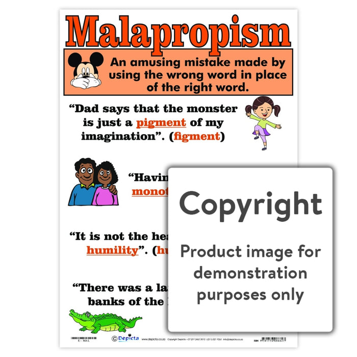 Malapropism Wall Charts And Posters