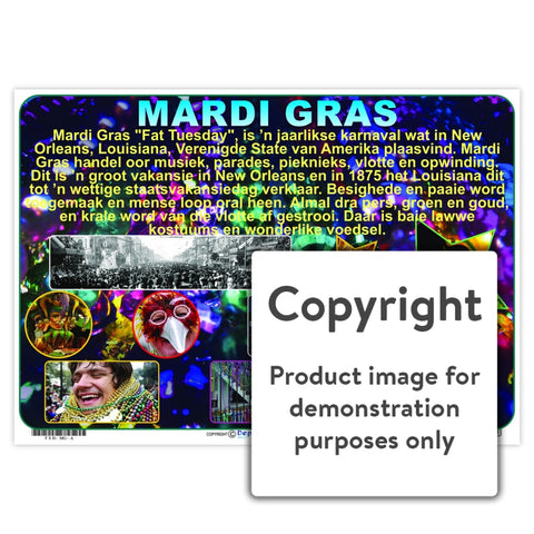 Mardi Gras Wall Charts And Posters