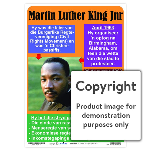 Martin Luther King Jnr - Afrikaans Wall Charts And Posters