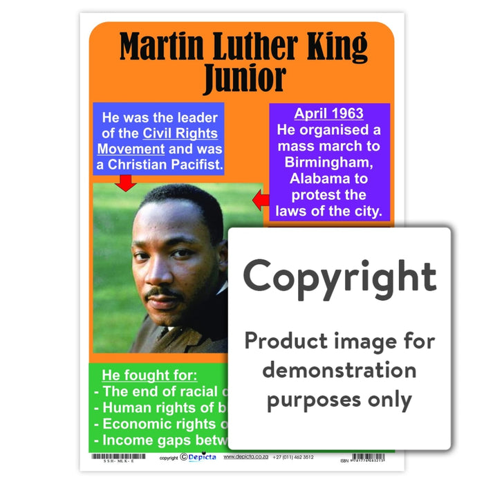 Martin Luther King Junior - English Wall Charts And Posters