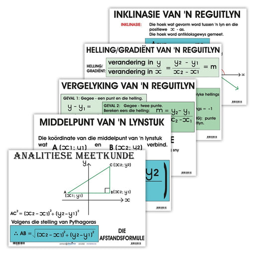 Meetkunde: Analitiese Meetkunde Wall Charts And Posters