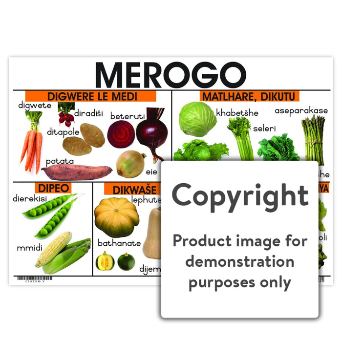 Merogo ( Vegetables ) Wall Charts And Posters