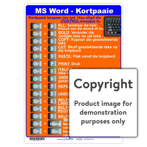 Ms Word - Kortpaaie Wall Charts And Posters