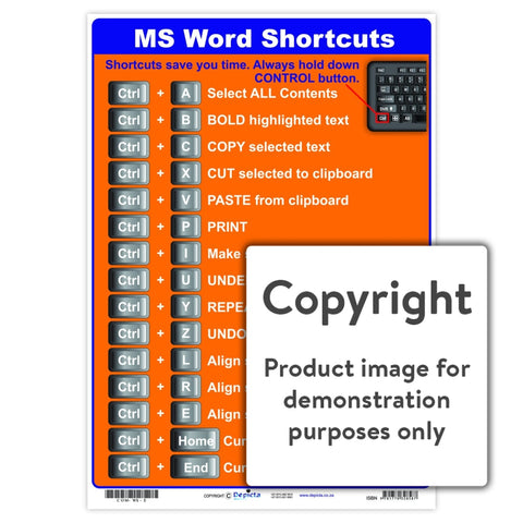 Ms Word Shortcuts Wall Charts And Posters
