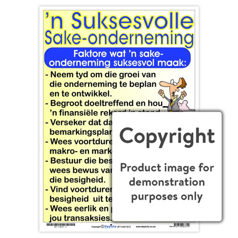 N Suksesvolle Sake-Onderneming Wall Charts And Posters