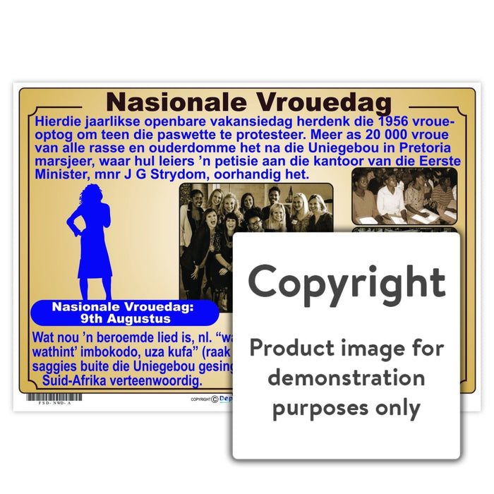 Nasionale Vrouedag Wall Charts And Posters