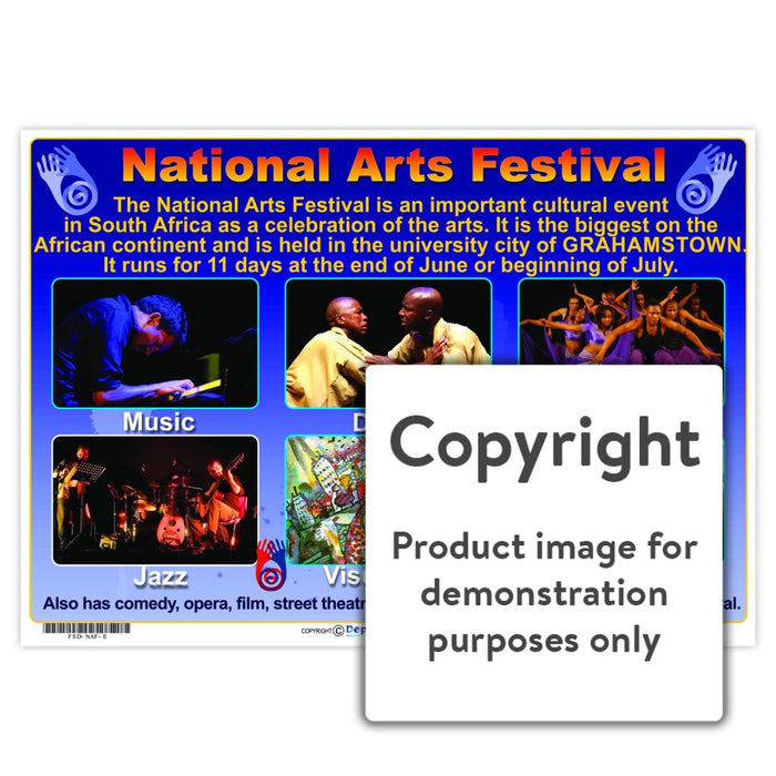 National Arts Festival Wall Charts And Posters