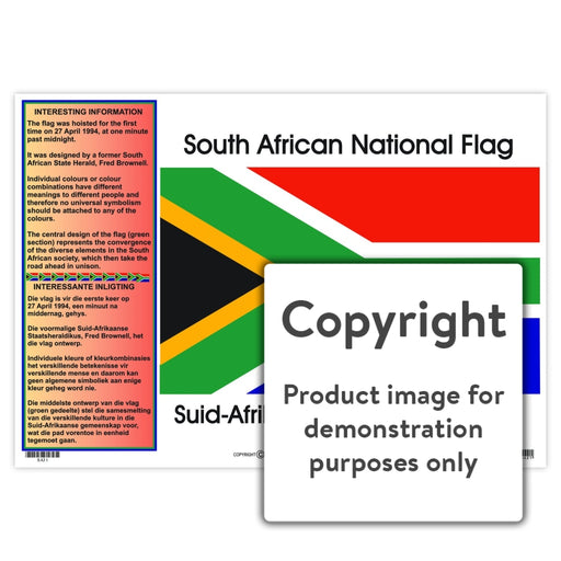 National Flag / Nasionale Vlag Wall Charts And Posters