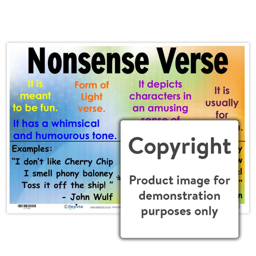 Nonsense Verse Wall Charts And Posters