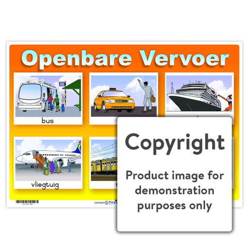 Openbare Vervoer Wall Charts And Posters